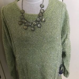 Brand new with Tag Jennifer Lopez key lime sweater